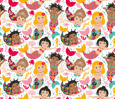 United Colors of Mermaids fabric by leventetladiscorde on Spoonflower - custom fabric
