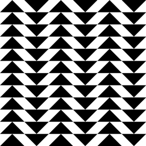 Flying Geese A b/w, 3-inch triangles