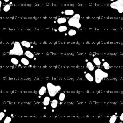 Trotting paw prints coordinate - black