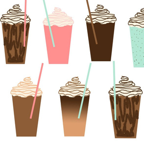 Iced Coffees (really big) cute summer flavor food sweet treats leggings baby beach