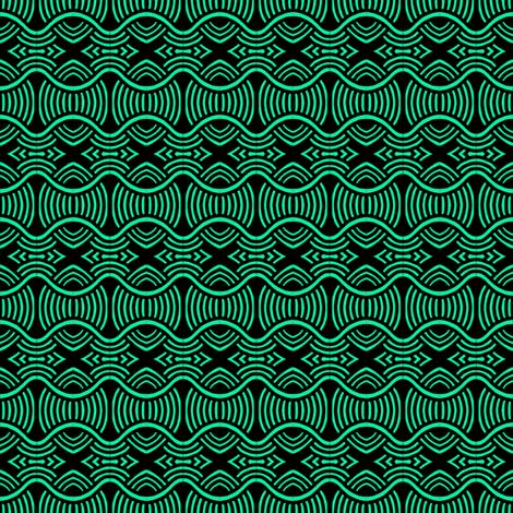 Spaghetti Grass Green Black fabric by eve_catt_art on Spoonflower - custom fabric