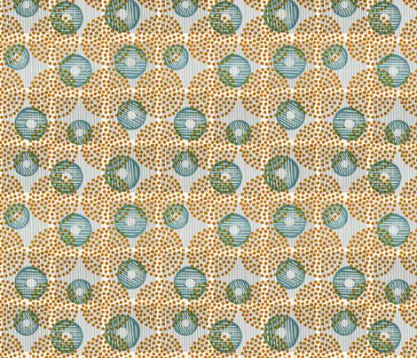 Nature's Mandala Teal fabric by meredith-macleod-artist on Spoonflower - custom fabric