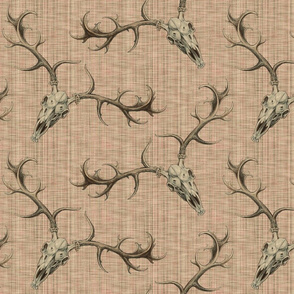 DigSkullery ~ Skirmish ~ Sepia on Persephone ~ Linen Luxe