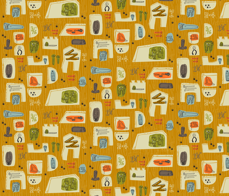 woodja couldja fabric by skbird on Spoonflower - custom fabric