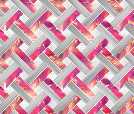 Basketweave Parquetry - Magenta fabric by pinky_wittingslow on Spoonflower - custom fabric