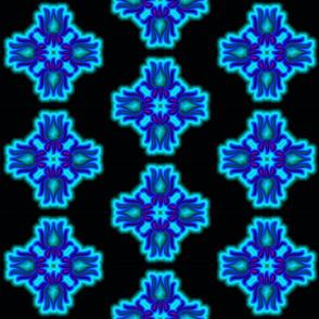 New flower design 13.5x13.5 150 Black&Blue