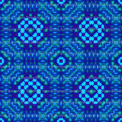 New flower design 13.5x13.5 150 Black&Blue 04
