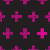 pink crosses on black
