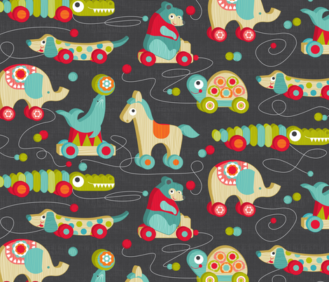 wooden toys fabric by cjldesigns on Spoonflower - custom fabric