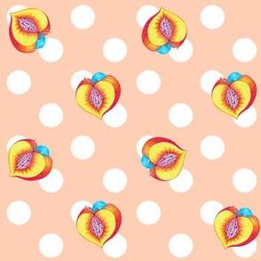Peach Dots