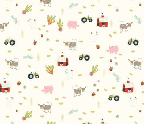 farm_fabric-2 fabric by myriam_keaton on Spoonflower - custom fabric