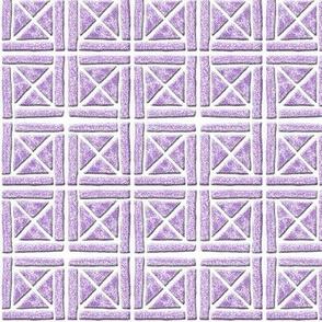 Blockprint 7-mauve - cross - crisscross