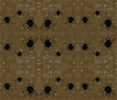Wicked Widows Spiders fabric by therustichome on Spoonflower - custom fabric