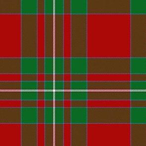 "MacAulay / MacAuley tartan  6"" (plain red field)"