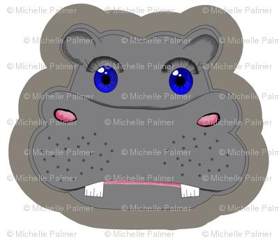 Hippo Plushie Pillow
