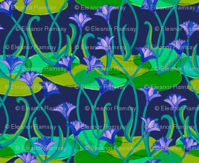 Midnight in the Lotus Garden