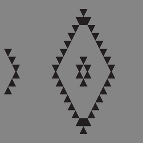 Kilim-Inspired Triangles, grey large