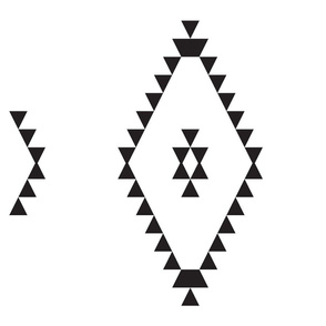 Kilim-Inspired Triangles b/w large