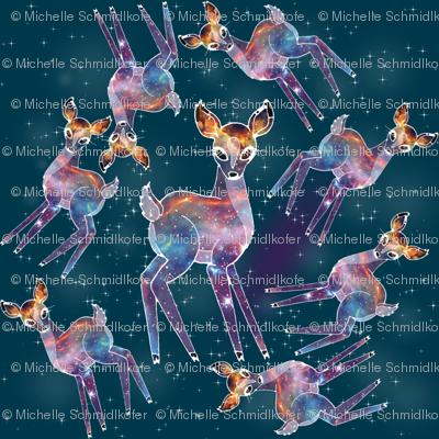 Cosmic Deer Fabric Changeling Court Spoonflower