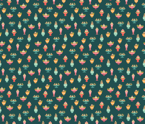 Cravings fabric by hey_there_louise on Spoonflower - custom fabric