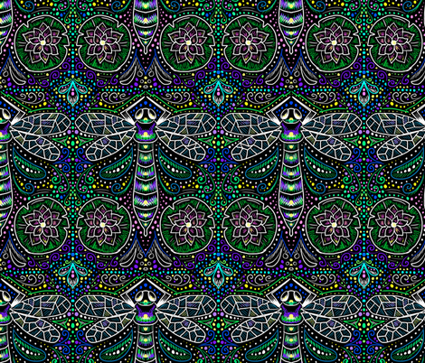 Dragonfly Filigree fabric by beesocks on Spoonflower - custom fabric