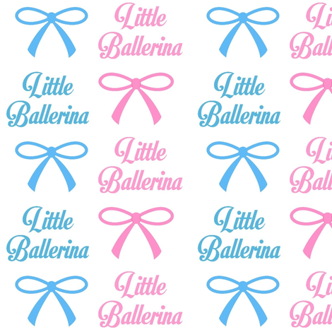 Bows and Little Ballerinas fabric by sunshineandspoons on Spoonflower - custom fabric