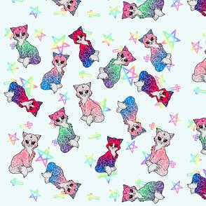 Pastel Creepy Cute Kitties