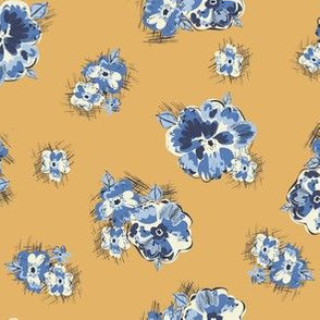 Floral in Ochre