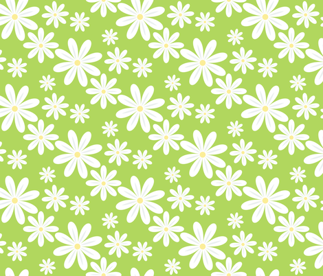 Daisy Scatter fabric by juliematthews on Spoonflower - custom fabric