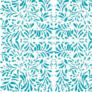 Trellis lace in teal