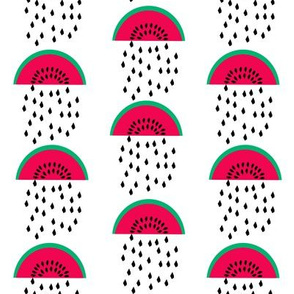 watermelon rain cute summer fruit tropical summer print for gender neutral hipster baby bedding leggings baby nursery