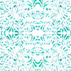 Trellis lace in greens