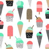 ice cream summer popsicle bright ice cream summer baby design
