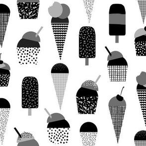 ice creams minimal monochrome design