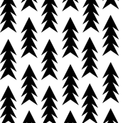 trees black and white minimal triangle trendy design for hipsters and trendy black and white swedish kids nursery