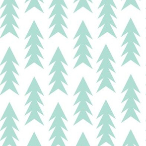 trees mint forest triangle trees for minimal kids nursery baby design