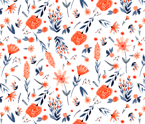 Irene's Garden fabric by abigailhalpin on Spoonflower - custom fabric