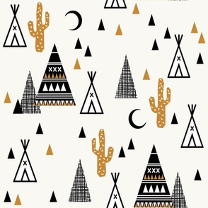 tipi sand - southwest baby cactus teepee trendy hipster grid design