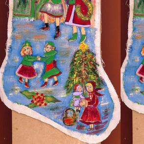 edith-joy fabrics Christmas stocking