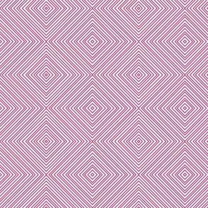 Magenta Pink Diamond Stripe