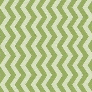 Pale Green Geometric Chevron