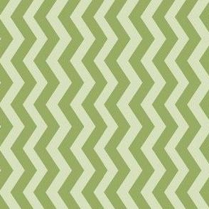 Pale Green Geometric Chevron