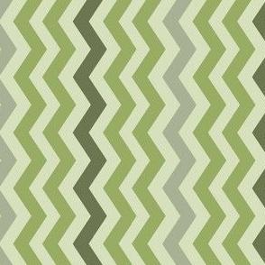Pale Green Geometric Chevron II