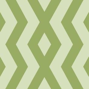 Pale Green Geometric Chevron III