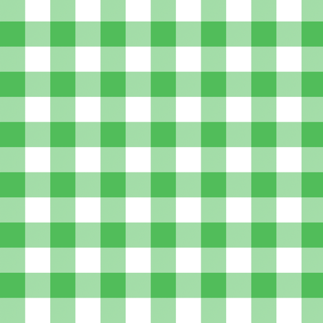 Spearmint green 5/8-inch gingham fabric by weavingmajor on Spoonflower - custom fabric