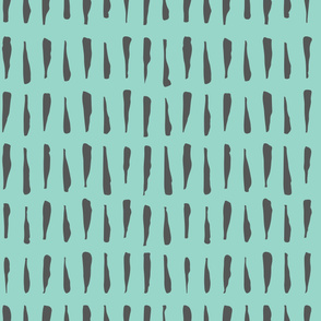 Abstract Zebra Stripes - Teal