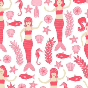 Mermaids & Friends (Pink)
