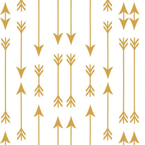 Yellow Geometric Arrows III