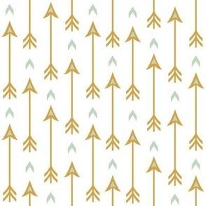 Yellow Geometric Arrows IV