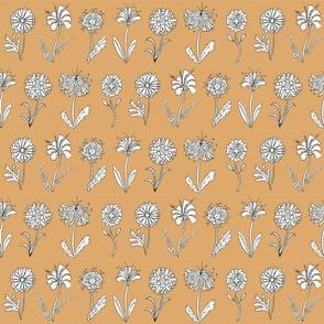 flower doodles - orange
